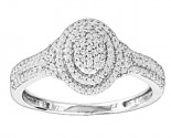 Ladies Diamond Fashion Ring 14K White Gold 0.31 cts. CL-53982