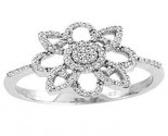 Ladies Diamond Fashion Ring 14K White Gold 0.27 cts. CL-86103
