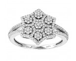 Ladies Diamond Fashion Ring 14K White Gold 0.35 cts. CL-96982