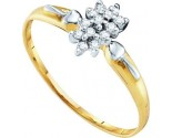 Diamond Cocktail Ring 10K Yellow Gold 0.15 cts. GD-10008