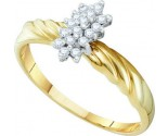 Diamond Cocktail Ring 10K Yellow Gold 0.15 cts. GD-10032