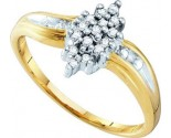 Diamond Cocktail Ring 10K Yellow Gold 0.10 cts. GD-10035
