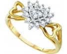 Diamond Cocktail Ring 10K Yellow Gold 0.20 cts. GD-10036