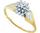 Diamond Cocktail Ring 10K Yellow Gold 0.10 cts. GD-10222