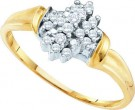 Diamond Cocktail Ring 10K Yellow Gold 0.15 cts. GD-10232