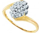 Diamond Cocktail Ring 10K Yellow Gold 0.12 cts. GD-10246