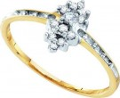 Diamond Cocktail Ring 10K Yellow Gold 0.12 cts. GD-10249