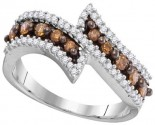 Cognac Diamond Fashion Ring 10K White Gold 0.50 cts. GD-104434