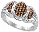 Cognac Diamond Fashion Ring 10K White Gold 0.33 cts. GD-104437
