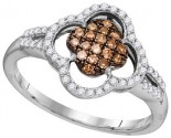 Cognac Diamond Fashion Ring 10K White Gold 0.33 cts. GD-104438
