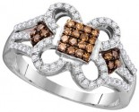 Cognac Diamond Fashion Ring 10K White Gold 0.45 cts. GD-104441