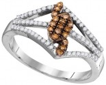 Cognac Diamond Fashion Ring 10K White Gold 0.33 cts. GD-104443