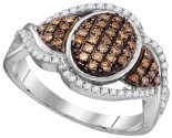 Cognac Diamond Fashion Ring 10K White Gold 0.50 cts. GD-104445