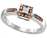 Cognac Diamond Fashion Ring 10K White Gold 0.25 cts. GD-104449