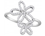 Ladies Diamond Fashion Ring 10K White Gold 0.20 cts. GD-105895