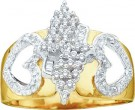 Ladies Diamond Fashion Ring 10K Gold 0.15 cts. GD-11181