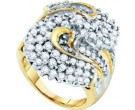 Diamond Cocktail Ring 10K Yellow Gold 2.00 ct GD-11292