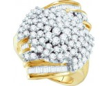 Diamond Cocktail Ring 10K Yellow Gold 2.00 ct GD-11293
