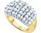 Diamond Cocktail Ring 10K Yellow Gold 2.00 ct GD-11712