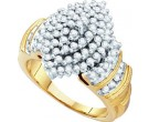 Diamond Cocktail Ring 10K Yellow Gold 1.00 ct GD-11784