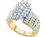 Diamond Cocktail Ring 10K Yellow Gold 1.00 ct GD-13010