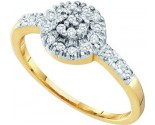 Diamond Cocktail Ring 10K Yellow Gold 0.20 cts. GD-15800