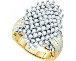 Diamond Cocktail Ring 10K Yellow Gold 2.00 ct GD-15929