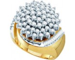 Diamond Cocktail Ring 10K Yellow Gold 2.00 ct GD-15939