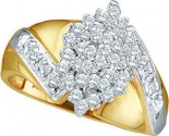 Ladies Diamond Fashion Ring 10K Gold 0.50 cts. GD-19352