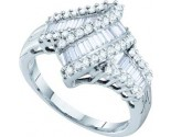 Ladies Diamond Fashion Ring 14K White Gold 1.00 ct. GD-19636