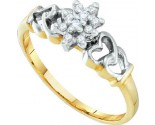 Diamond Cocktail Ring 10K Yellow Gold 0.10 cts. GD-20304