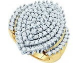 Diamond Cocktail Ring 10K Yellow Gold 2.00 ct. GD-21634
