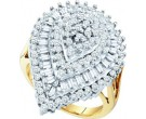 Diamond Cocktail Ring 10K Yellow Gold 1.00 ct GD-22126