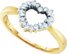 Diamond Cocktail Ring 10K Yellow Gold 0.12 cts. GD-25509