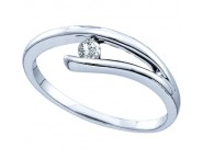 Ladies Diamond Fashion Ring 10K White Gold 0.08 cts. GD-26001 [GD-26001]