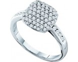 Ladies Diamond Fashion Ring 14K White Gold 0.51 cst. GD-26158