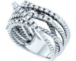 Diamond Cocktail Ring 14K White Gold 0.45 cts. GD-26173