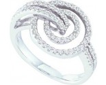 Ladies Diamond Fashion Ring 14K White Gold 0.56 cts. GD-26226