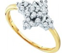 Diamond Cocktail Ring 10K Yellow Gold 0.25 cts. GD-26636