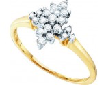 Diamond Cocktail Ring 10K Yellow Gold 0.25 cts. GD-26643
