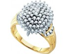 Diamond Cocktail Ring 10K Yellow Gold 0.50 cts. GD-26647