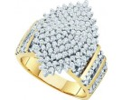 Diamond Cocktail Ring 10K Yellow Gold 1.00 ct GD-26668