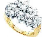 Diamond Cocktail Ring 10K Yellow Gold 2.00 ct. GD-26677