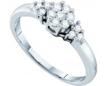 Ladies Diamond Cluster Ring 14K White Gold 0.25 cts. GD-26795