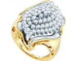 Diamond Cocktail Ring 10K Yellow Gold 2.00 ct GD-27520