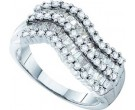 Ladies Diamond Fashion Band 14K White Gold 1.00 ct. GD-28397