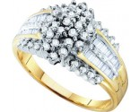 Diamond Cocktail Ring 10K Yellow Gold 0.50 cts. GD-29487