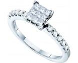 Ladies Diamond Fashion Ring 14K White Gold 0.50 cts. GD-38756