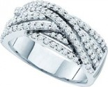 Ladies Diamond Fashion Band 14K White Gold 0.88 cts. GD-39366