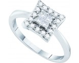 Diamond Square Fashion Ring 14K White Gold 0.38 cts. GD-39518